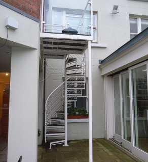 Aylesbury 'Helix' Spiral Stairs & Balcony