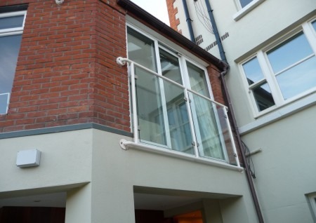 Powder-coated Balustrade with Glass Infill