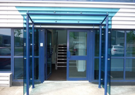 'Trufix' Blue Glass Canopy
