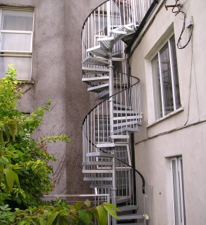 'The Crescent' Spiral Fire Escape