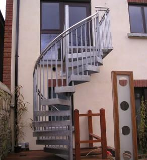 'Charleville' Galvanised Spiral Stairs