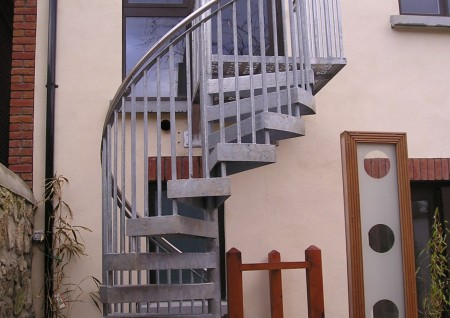 'Charleville' Galvanised Spiral Stairs