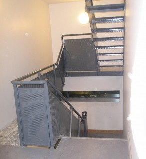 'IDA' Escape Stairs with Perforated Plate Balustrade