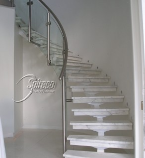 Curved Central Spine Stairs