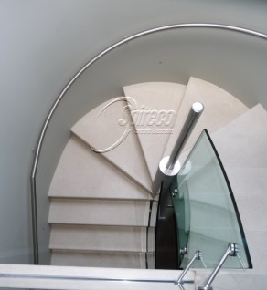 'Delargy' Curved Stainless Steel Handrail