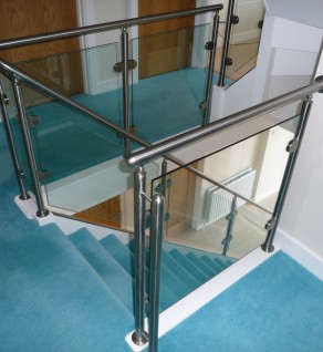 'Saphire' Stainless Steel & Glass Balustrade