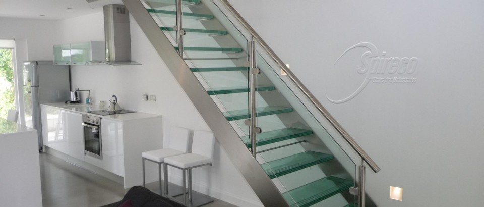 Glass Treads, Stainless Steel Stairs