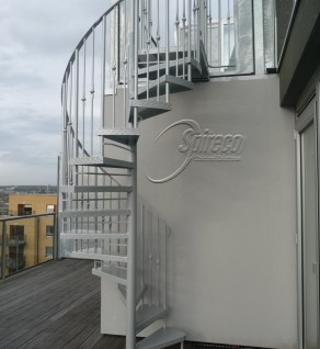 Powder-coated 'Penthouse' Spiral Stairs