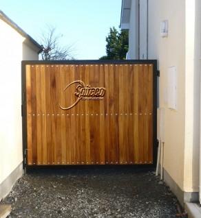 Iroko Clad Gate