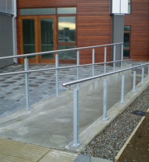 'Clasac' External Twin Fin Posts with Stainless Steel Handrail