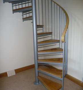 'Silver Executive' Spiral Stairs