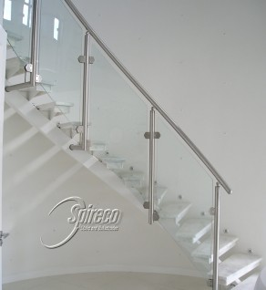 'Turvey' Curved Floating Stair