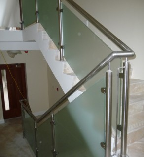 'Naas Appartments' Opaque Glass Balustrade