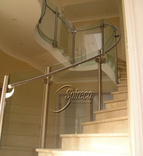 'Orwell Park' Curved Glass Balustrade