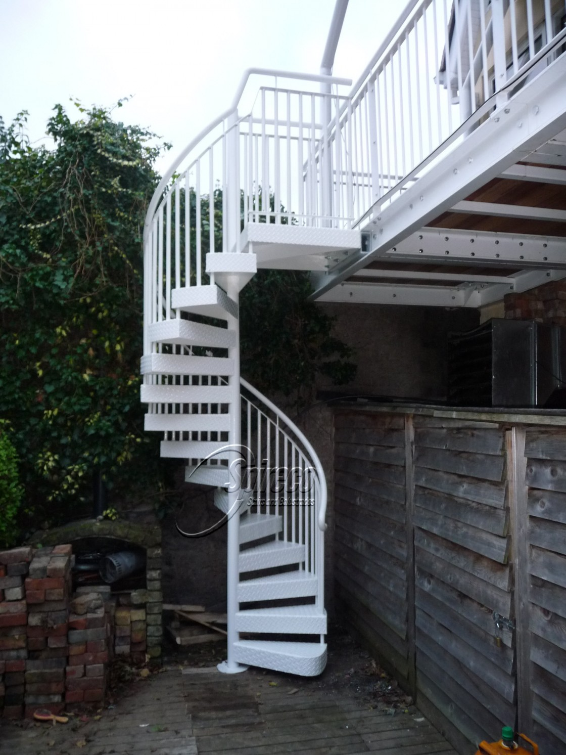 External Amp Stairs Amp Balustrades Spireco Spiral Stairs