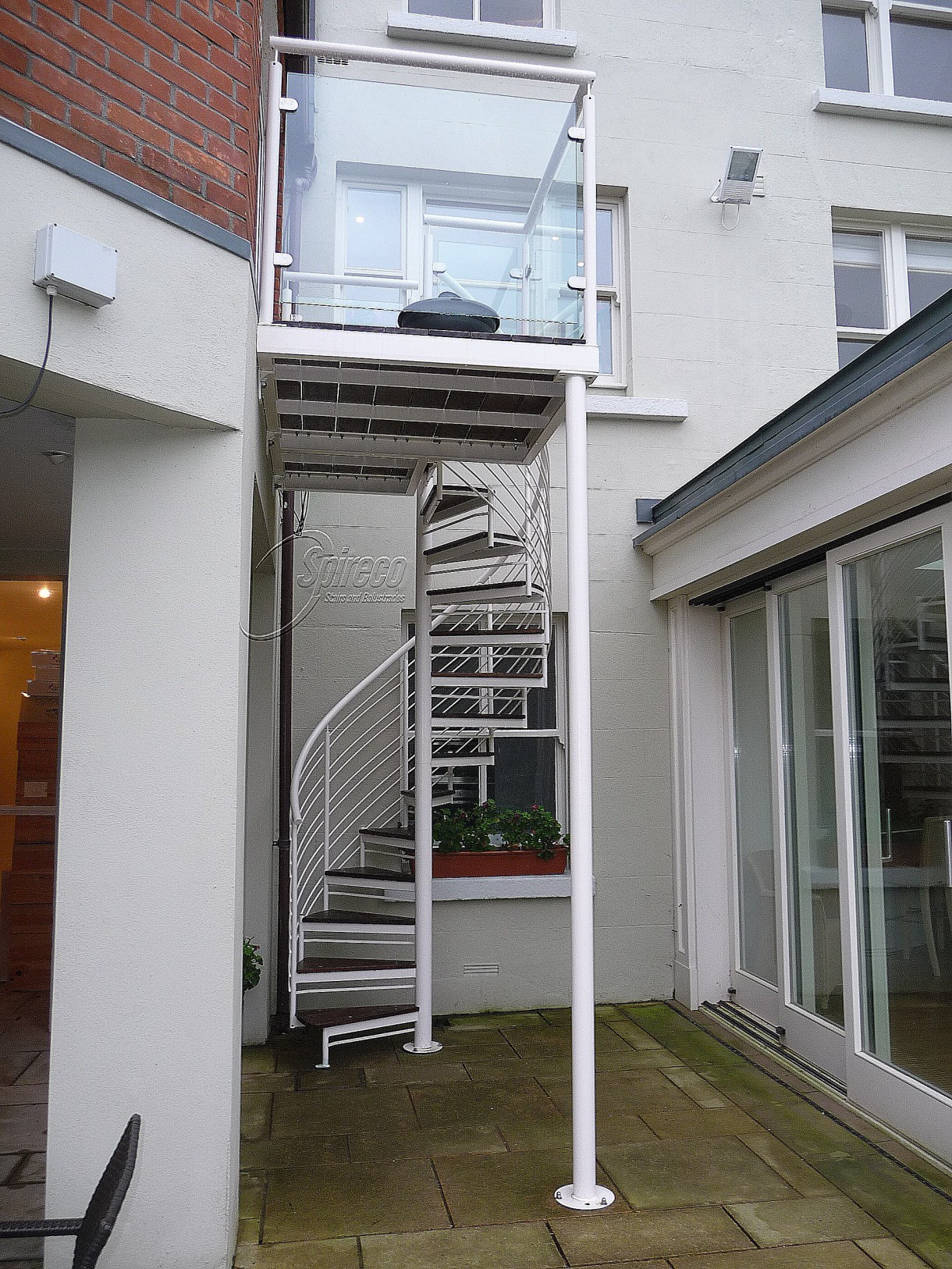 External stairs balustrades spireco spiral stairs for Balcony company